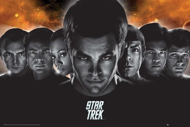 STAR TREK - heads Affiche