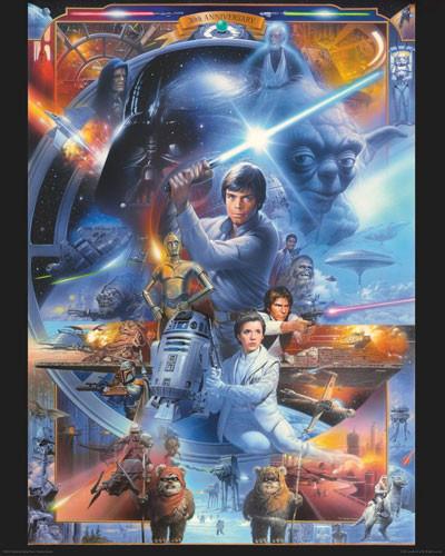 STAR WARS - anniversary Affiche