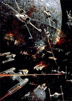 STAR WARS -  space battle Affiche