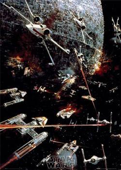STAR WARS -  space battle Poster