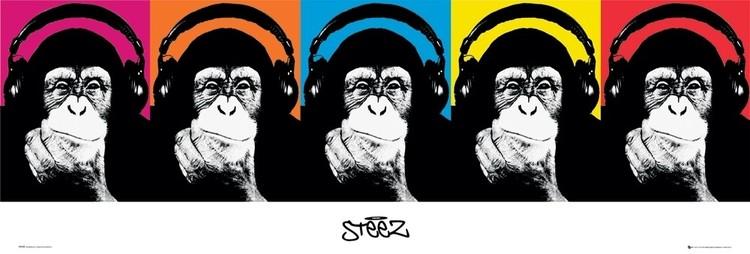 Steez - monkey Affiche