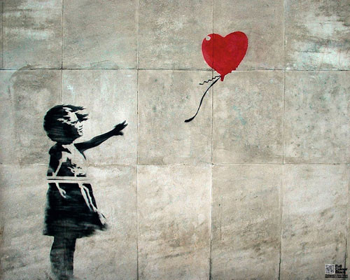 Streetart - balloon girl Affiche