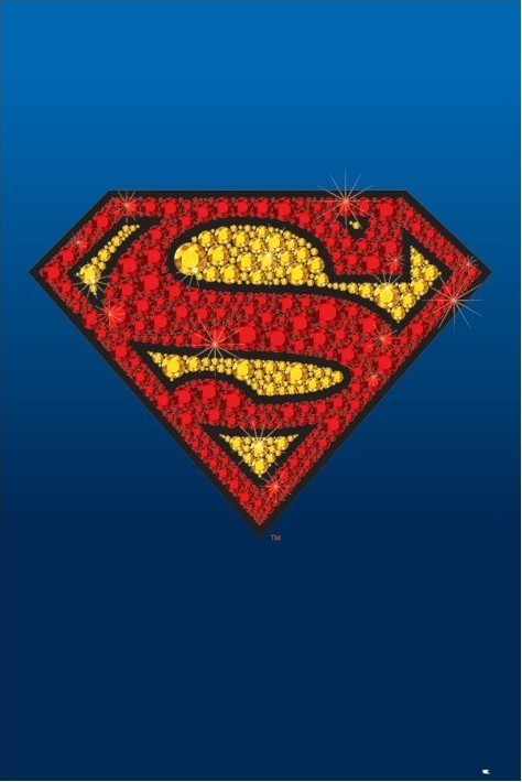 SUPERMAN - bling logo Poster