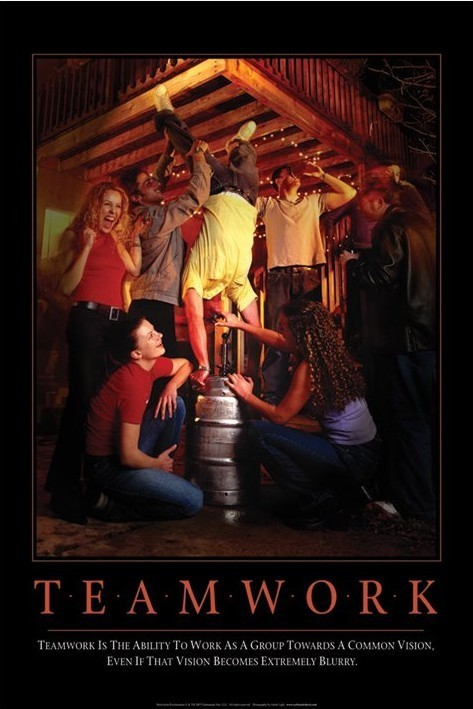 Teamworks - party Affiche