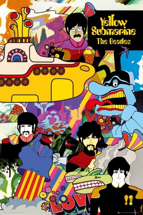 the Beatles - yellow submarine Affiche