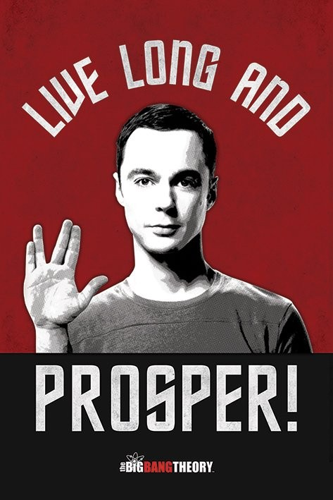 THE BIG BANG THEORY - live long and prosper Affiche