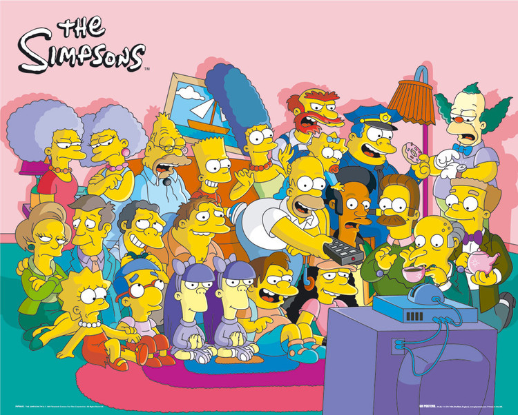 THE SIMPSONS - cast couch Affiche
