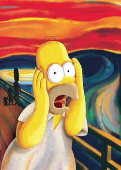 THE SIMPSONS - scream Affiche