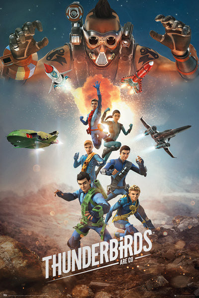 Thunderbirds Are Go - Collage Affiche