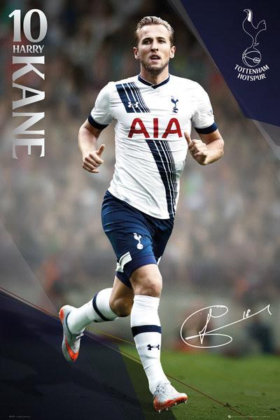 Tottenham Hotspur FC - Kane 15/16 Affiche