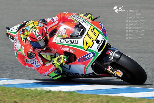 Valentino Rossi- Moto GP Affiche