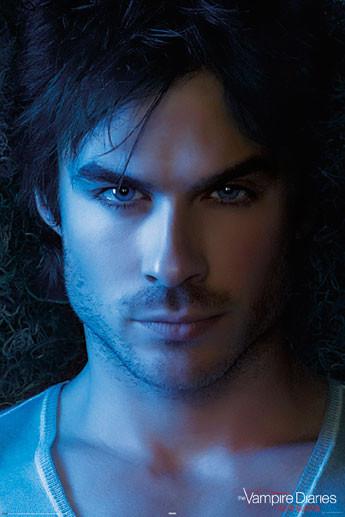 Vampire diaries damon face poster affiche acheter le for Domon livraison