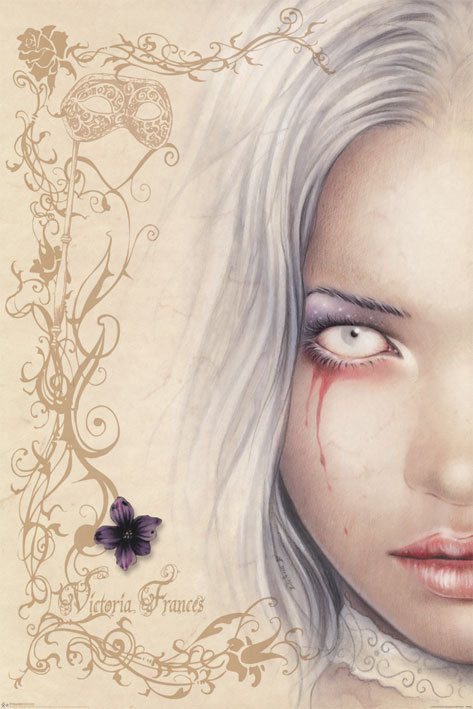 Victoria Frances - blood tears Affiche