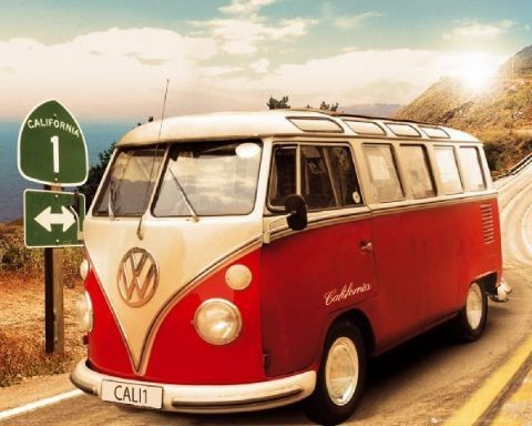 VW Californian camper Affiche