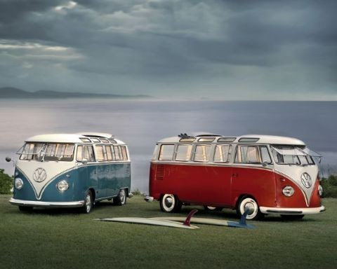 vw camper twin combi poster affiche acheter le sur. Black Bedroom Furniture Sets. Home Design Ideas