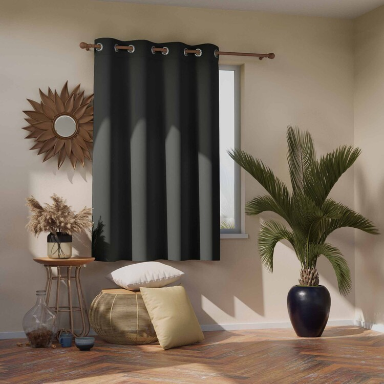 Curtain Amelia Home - Blackout Charcoal 1 pc