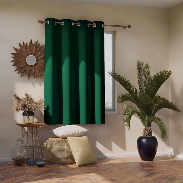 Curtain Amelia Home - Blackout Dark Green 1 pc