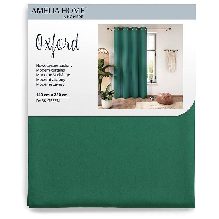 Curtain Amelia Home - Eyelets Dark Green 1 pc