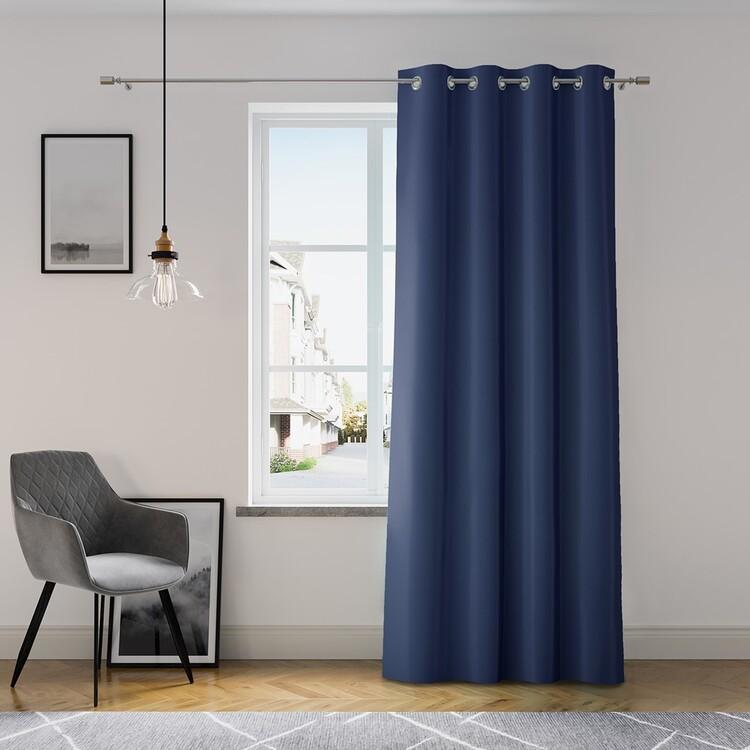 Curtain Amelia Home - Eyelets Navy 1 pc
