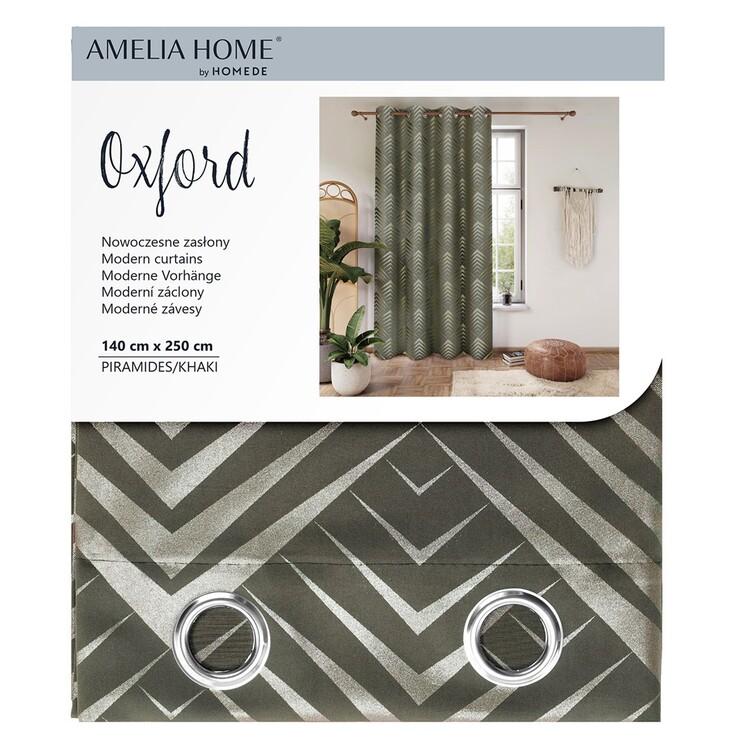 Curtain Amelia Home - Piramides Khaki 1 pc