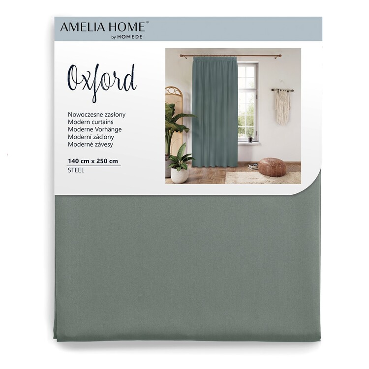 Curtain Amelia Home - Pleat Steel 1 pc