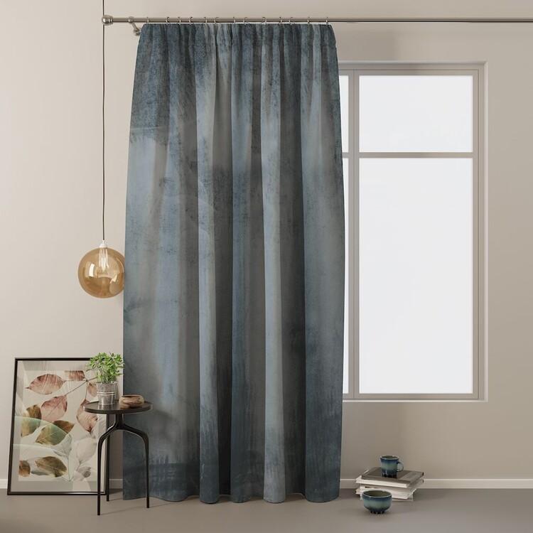 Curtain Amelia Home - Velvet Charcoal 1 pc