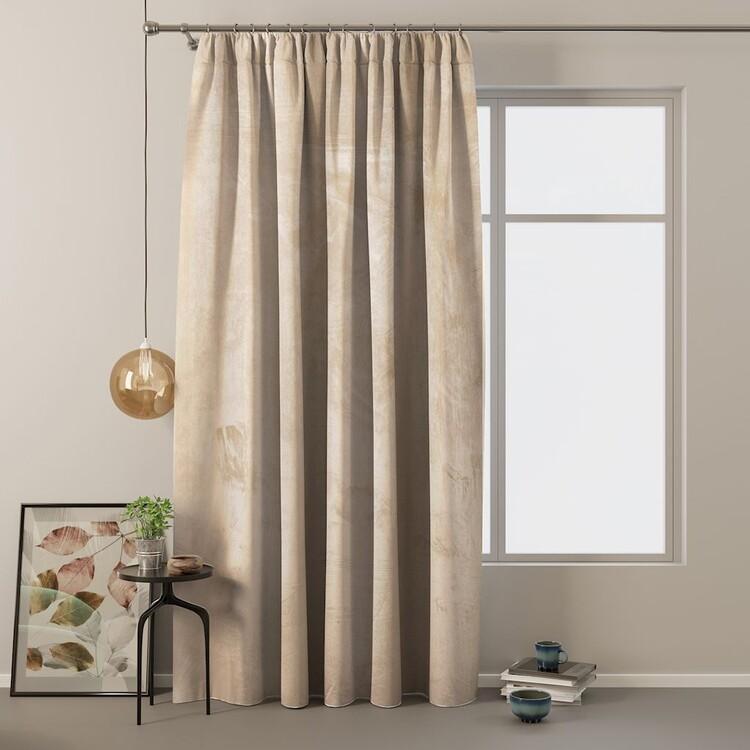 Curtain Amelia Home - Velvet Cream 1 pc