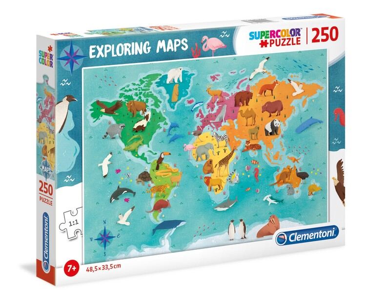 Puzzle Animals in the World