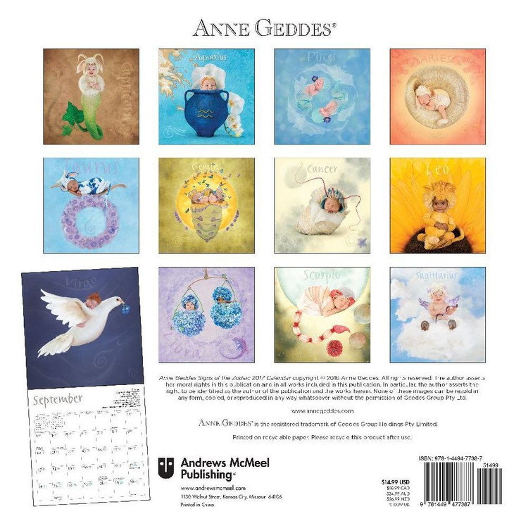 Anne Geddes   Zodiac   Wall Calendars | Large selection