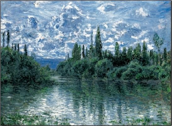 Arm of the Seine near Vetheuil Reproduction d'art