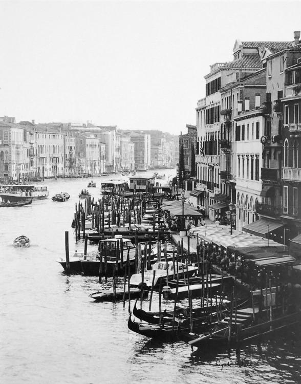 Array of Boats, Venice Reproduction