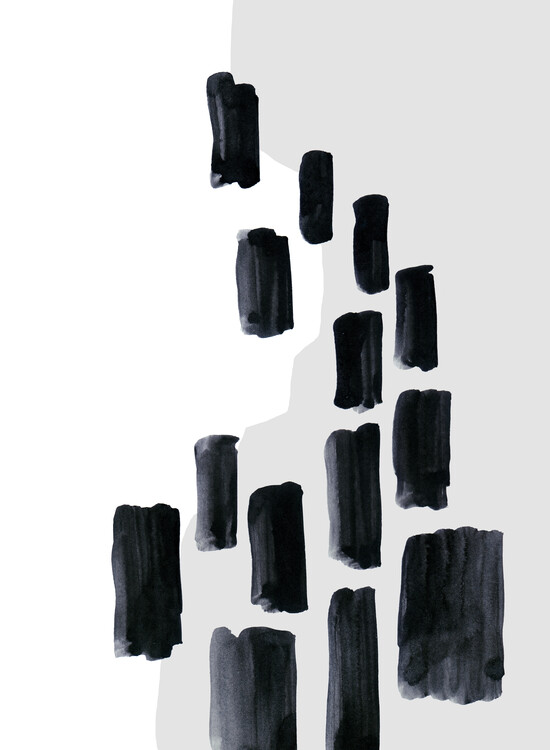 Illustration Abstract hard shapes