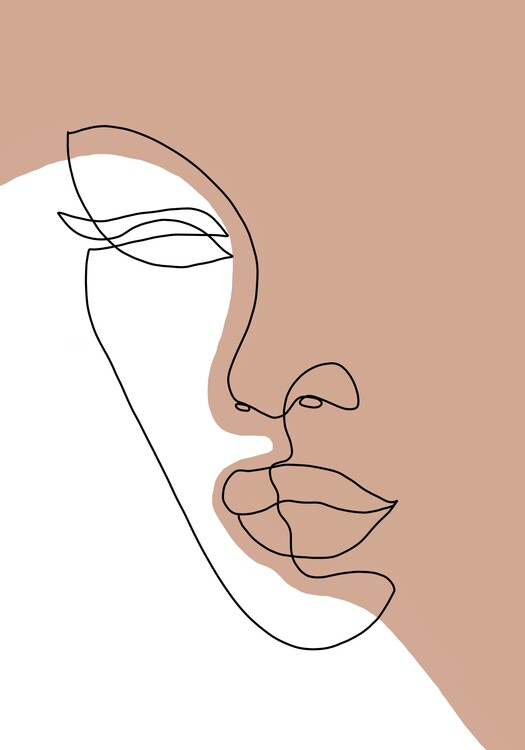 Illustration Abstract lady line art