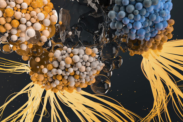 Art Photography Abstract nanoparticles inside water series 16