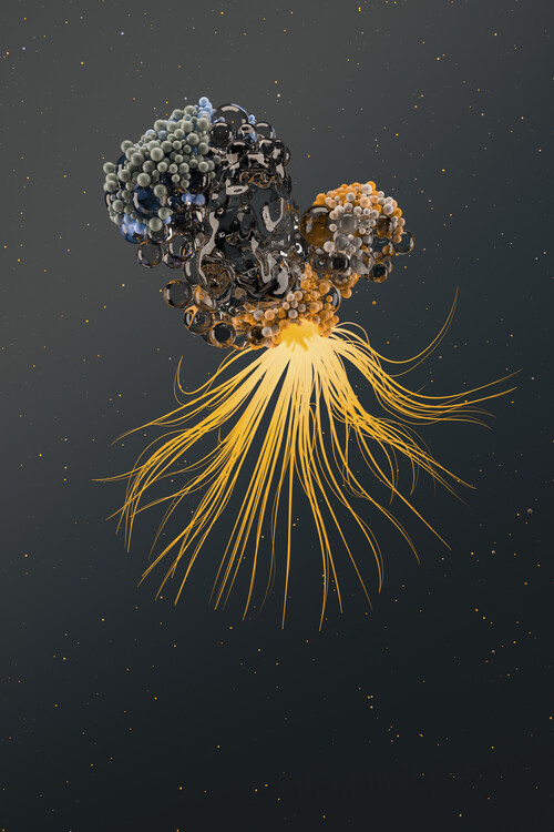 Art Photography Abstract nanoparticles inside water series 3