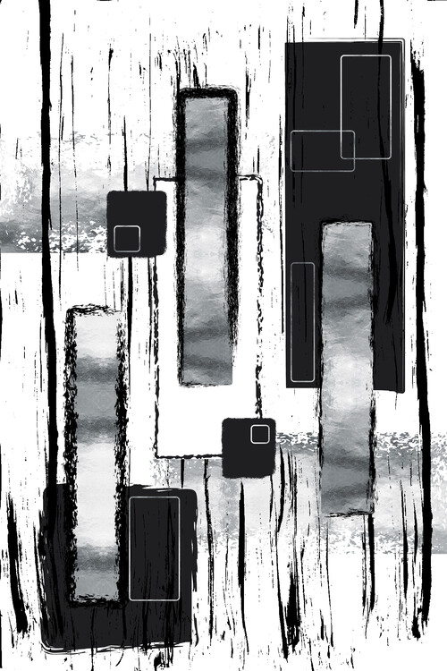 Illustration Abstract Painting No. 50   silver