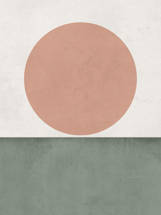 Illustration abstractorangesungreen1