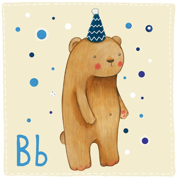 Illustration Alphabet - Bear