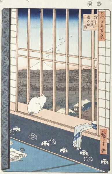 Fine Art Print Asakusa Rice Fields and Festival of Torinomachi