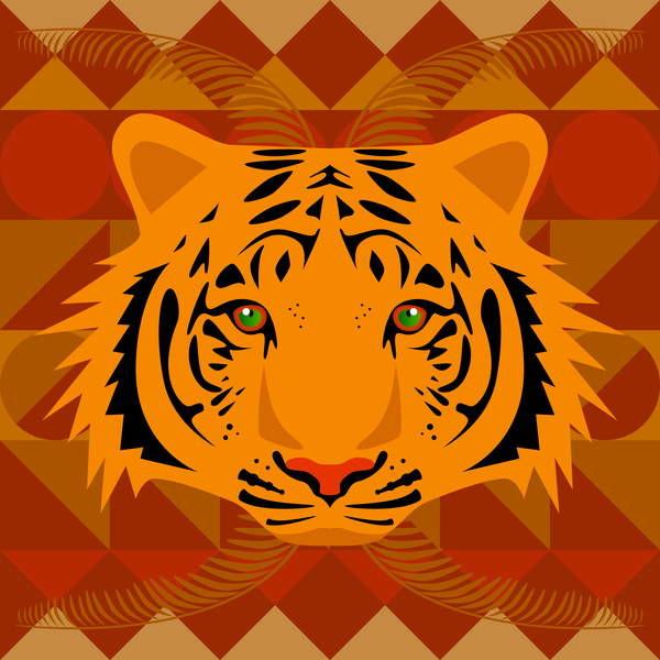 Fine Art Print Aztec Tiger