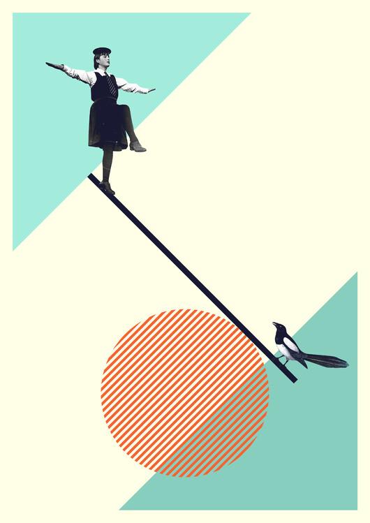 Illustration B is for balance
