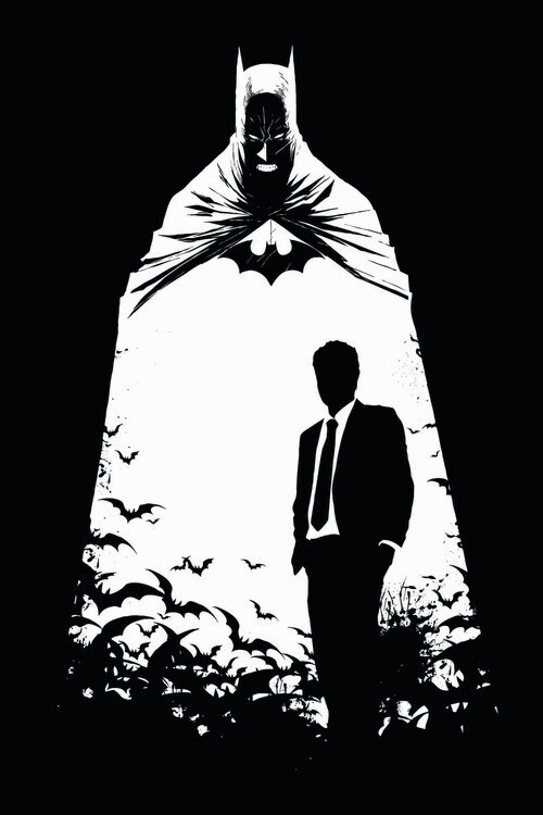 Art Poster Batman - Secret Identity