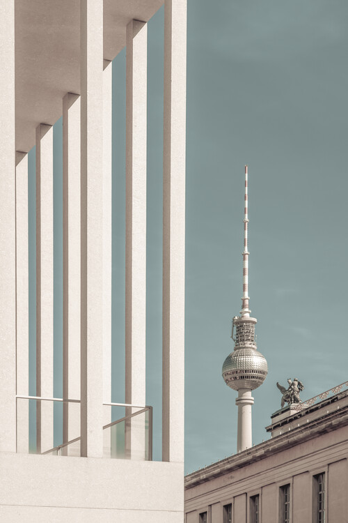 Art Photography BERLIN Television Tower & Museum Island | urban vintage style
