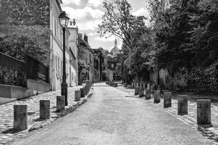 Art Photography Black Montmartre - Between the Paved Sidewalks