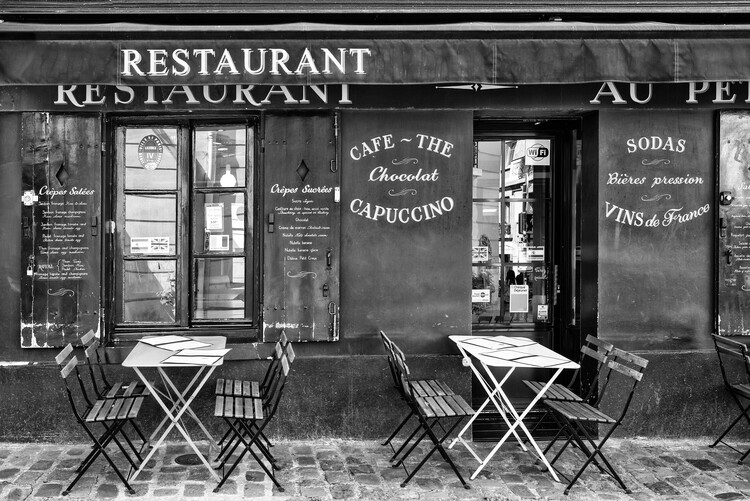 Arte Fotográfica Black Montmartre - Café Restaurant