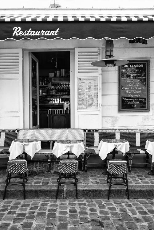 Art Photography Black Montmartre - French Restaurant