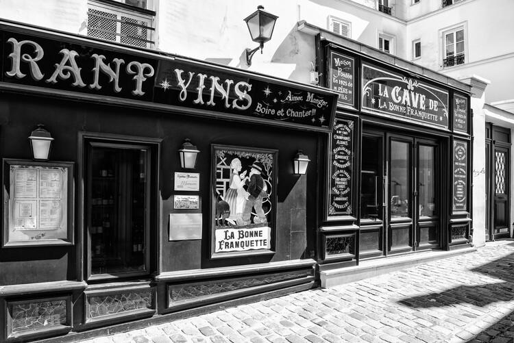 Taide valokuvaus Black Montmartre - La Bonne Franquette