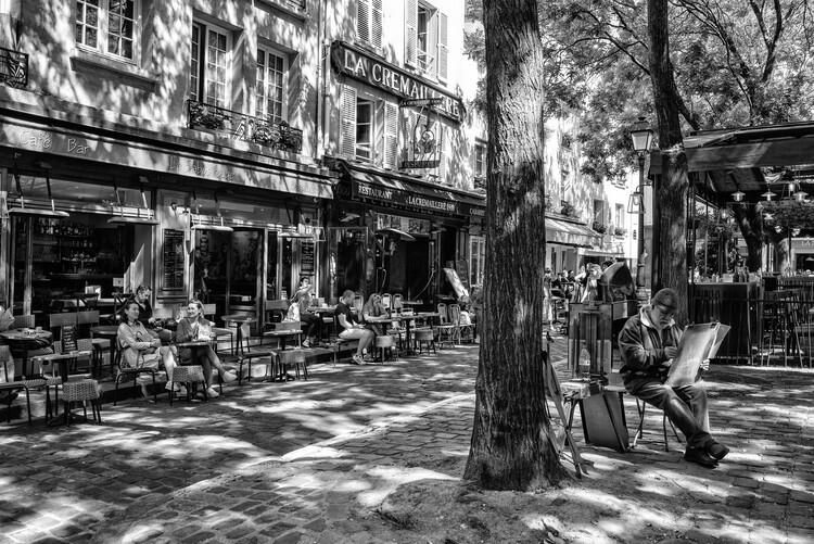 Art Photography Black Montmartre - Place du Tertre