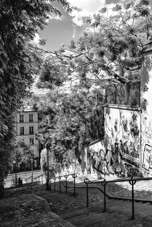 Art Photography Black Montmartre - Staircases