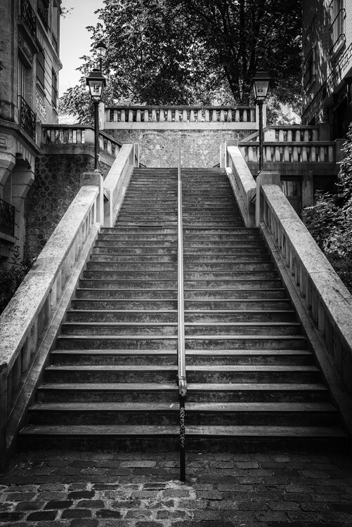 Art Photography Black Montmartre - Stairs